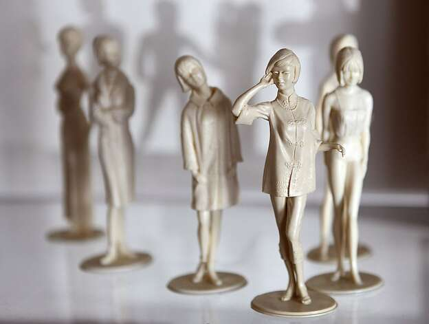 CAMPUS CUTIES (plastic figurines from the 1960s) Photo: Liz Hafalia, The Chronicle