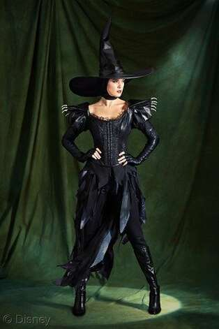 "Disney's limited-edition costumes for ""Oz The Great and Powerful"" are being sold at only five Disney stores, including the San Francisco location. The Glinda ($349.50) and the Wicked Witch dresses ($399.50). An emerald dress by Sue Wong ($800) and Jerome Rousseau shoes ($600) inspired by the film are available at Bloomingdales and Saks. Photo: Disney"