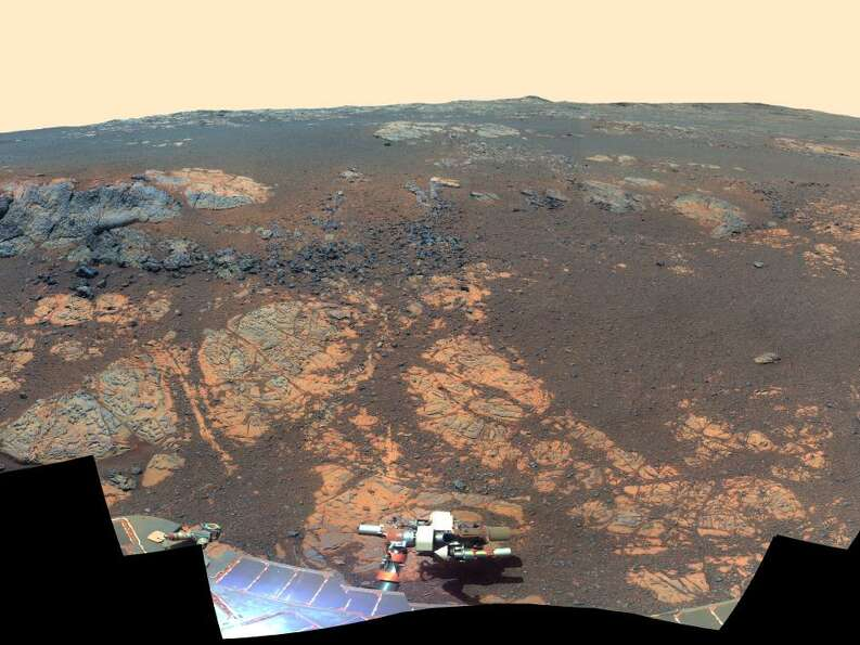 As NASA's Mars Exploration Rover Opportunity neared the ninth anniversary of its landing on Mars, th