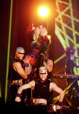 Ke$ha performs during the Sprint NBA All-Star Pregame Concert. Photo: Cody Duty / © 2013  Houston Chronicle