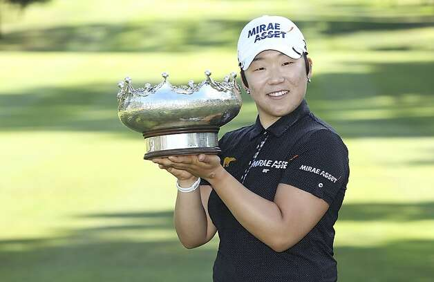 Jiyai Shin held off world No. 1 Yani Tseng to win the Australian title. Photo: Stefan Postles, Getty Images