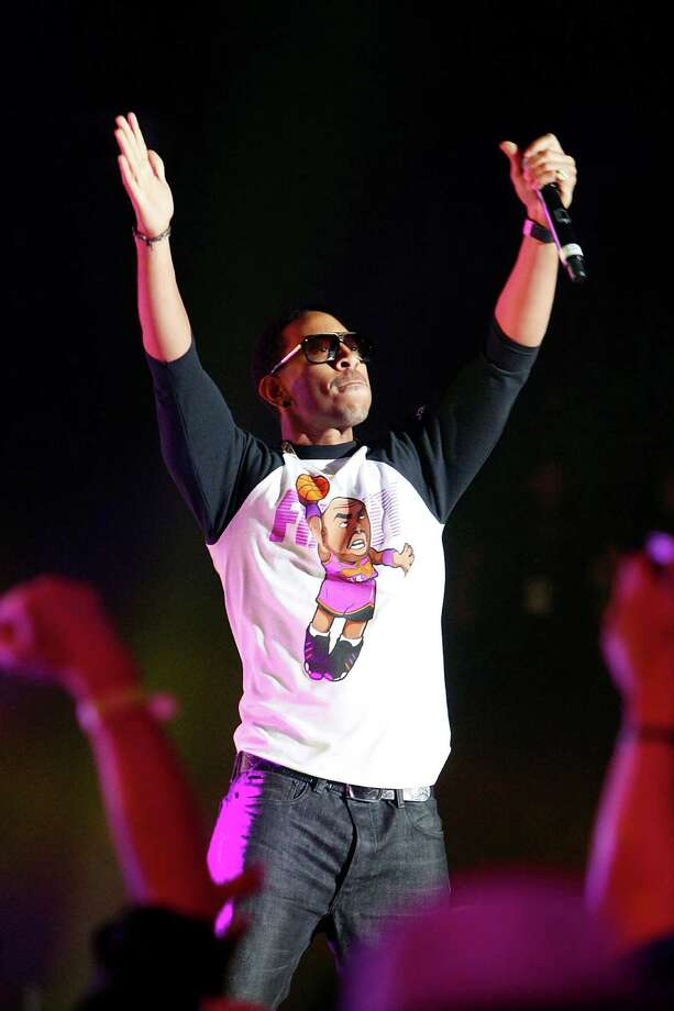 Ludacris performs during the Sprint NBA All-Star Pregame Concert at the George R. Brown Convention Center on Sunday, Feb. 17, 2013, in Houston. Photo: Cody Duty, Houston Chronicle / © 2013  Houston Chronicle