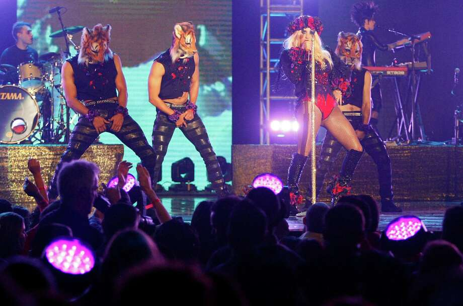 Ke$ha performs during the Sprint NBA All-Star Pregame Concert at the George R. Brown Convention Center on Sunday, Feb. 17, 2013, in Houston. Photo: Cody Duty, Houston Chronicle / © 2013  Houston Chronicle