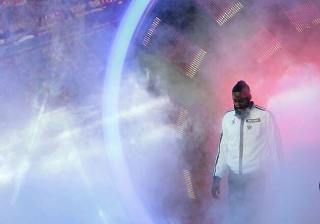 James Harden of the Houston Rockets is introduced before the NBA All-Star Game at the Toyota Center on Sunday, Feb. 17, 2013, in Houston. Photo: James Nielsen / © 2013  Houston Chronicle