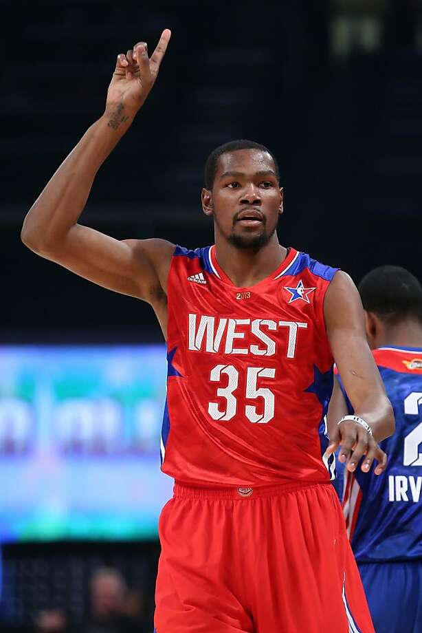 Kevin Durant scored 30 points for the West. Photo: Ronald Martinez, Getty Images