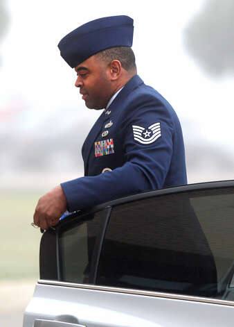 Tech. Sgt. Samuel Wicks, a basic training instructor at Joint Base San Antonio-Lackland, faces up to 18 years in prison. Photo: Bob Owen / San Antonio Express-News