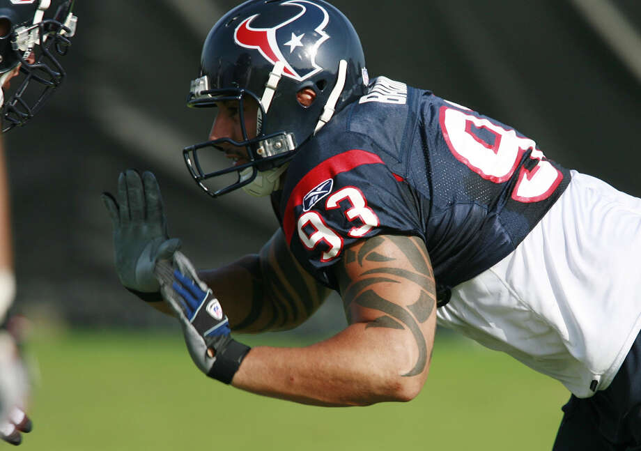 2004 - OLB Jason BabinDrafted by: Houston TexansCollege: Western Michigan Photo: James Nielsen / Houston Chronicle
