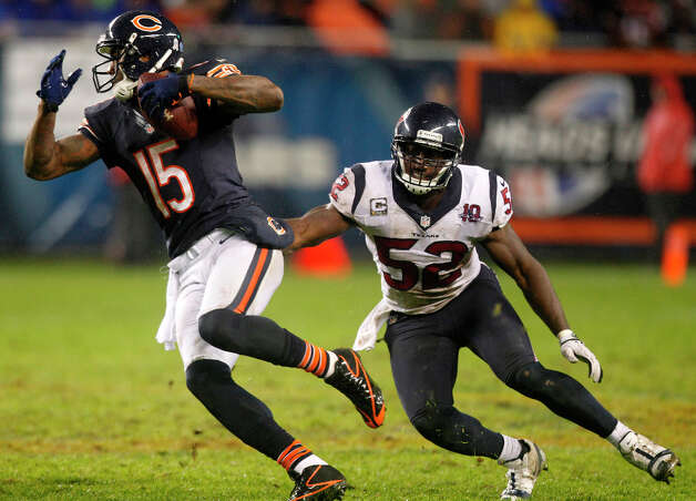 Brandon Marshall, 4th round, drafted by Denver in 2006At least 100 catches four times and six 1,000-yard seasons in a row. Photo: Brett Coomer, Houston Chronicle / © 2012  Houston Chronicle