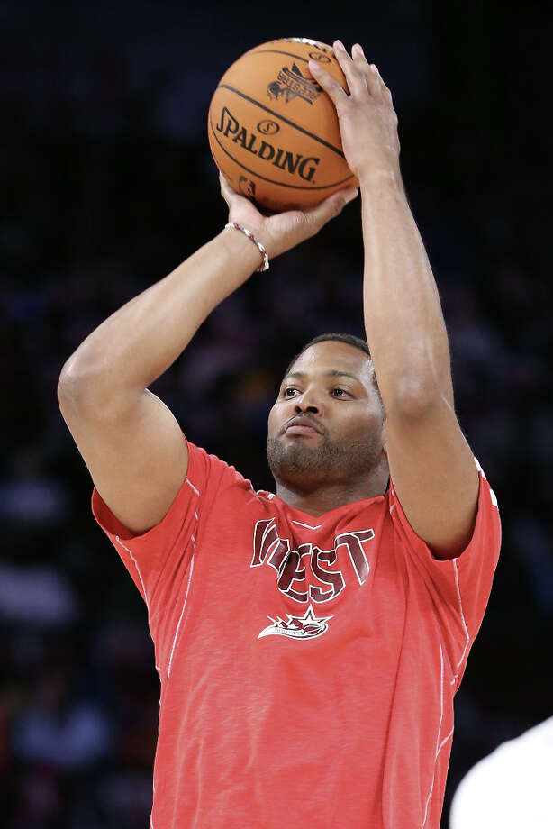 NBA legend Robert Horry competes during the Sears Shooting Stars Competition part of 2013 NBA All-Star Weekend at the Toyota Center on February 16, 2013 in Houston. Photo: Ronald Martinez, Getty Images / 2013 Getty Images