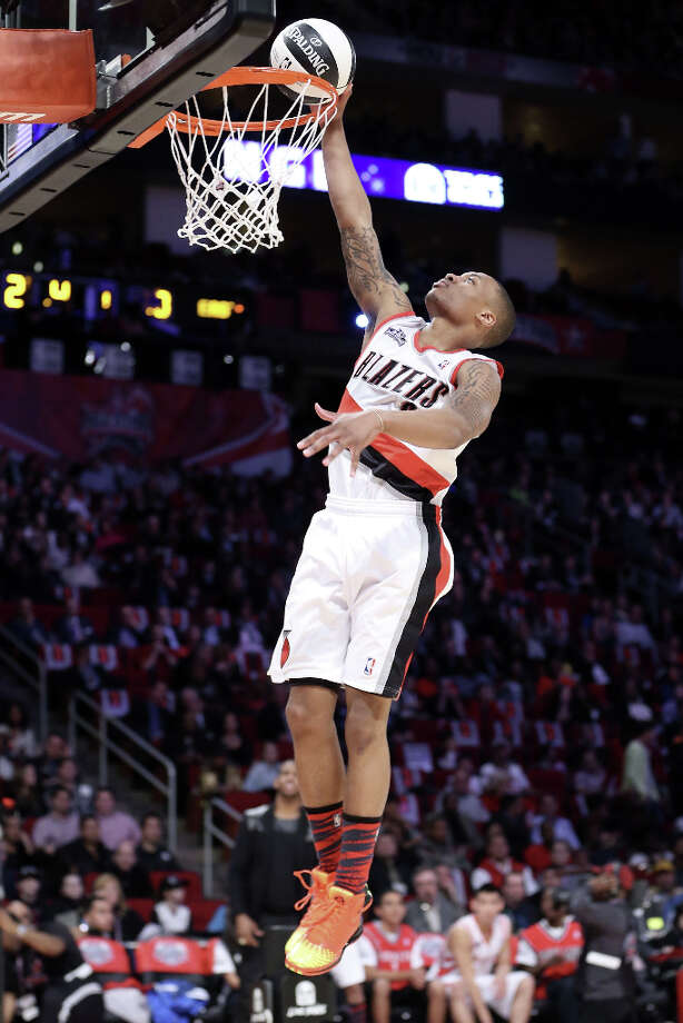 Damian Lillard of the Portland Trail Blazers competes in the Taco Bell Skills Challenge part of 2013 NBA All-Star Weekend at the Toyota Center on February 16, 2013 in Houston. Photo: Ronald Martinez, Getty Images / 2013 Getty Images