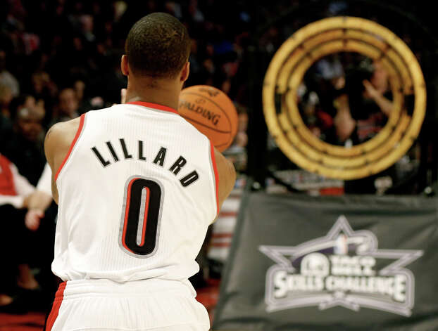 Damian Lillard of the Portland Trail Blazers competes in the Taco Bell Skills Challenge part of 2013 NBA All-Star Weekend at the Toyota Center on February 16, 2013 in Houston. Photo: Scott Halleran, Getty Images / 2013 Getty Images