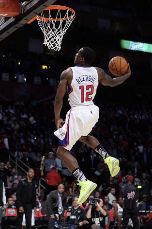 Eric Bledsoe of the Los Angeles Clippers dunks the ball in the first round during the Sprite Slam Dunk Contest part of 2013 NBA All-Star Weekend at the Toyota Center on February 16, 2013 in Houston. Photo: Ronald Martinez, Getty Images / 2013 Getty Images