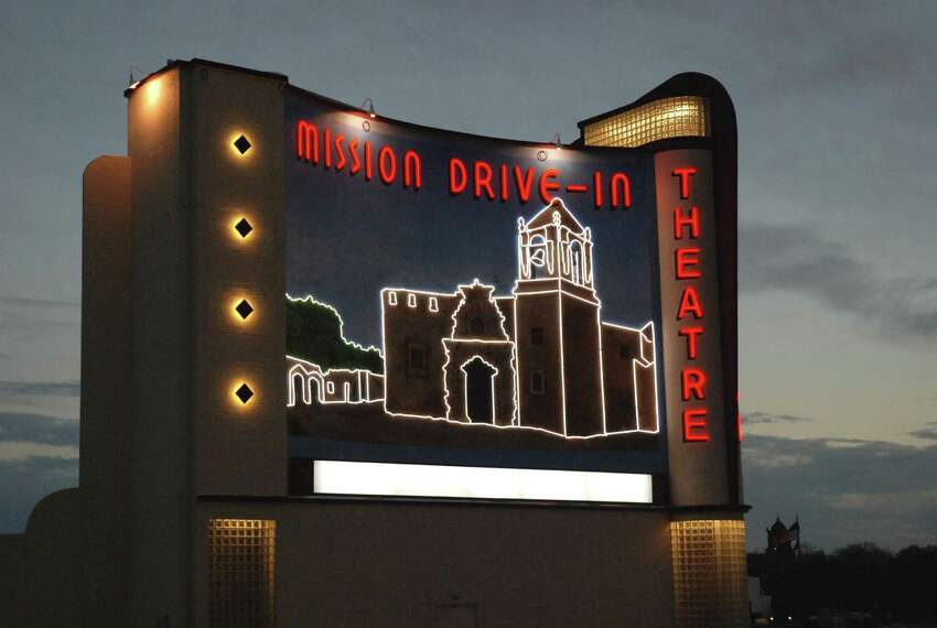 The lights of the new Mission Drive-In Theatre mural were turned on during the city's official lighting ceremony on Feb. 12.