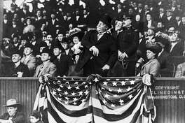 Over one hundred years ago, President William Howard Taft, a portly right-hander, threw out the first ball at a Washington Senators game, a weak lob from the stands to the great Walter Johnson. Note that the President didn't throw a first pitch but stayed up in the stands.