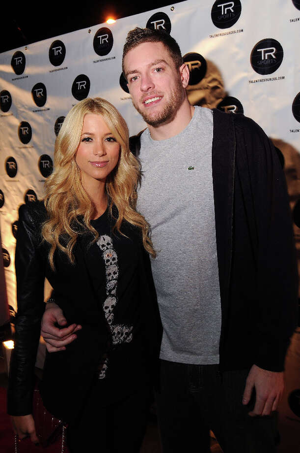 Sabina Gadecki and Golden State Warrior David Lee at a party hosted by Lee at the Hudson Lounge Friday Feb. 15, 2013. Photo: Dave Rossman, For The Houston Chronicle / © 2013 Dave Rossman