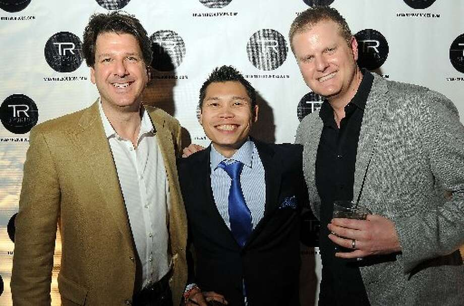 Eric Thompson, Hudson Allen and Brody OHarran at a party hosted by Golden State Warrior David Lee at the Hudson Lounge .