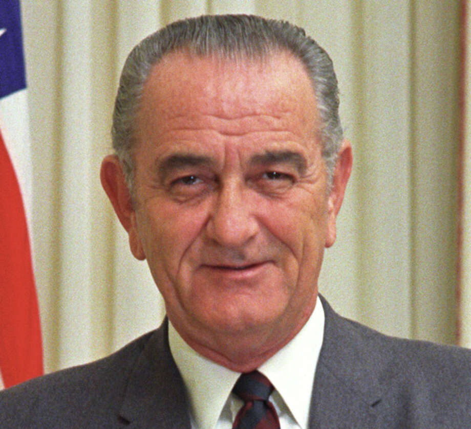 LBJ's official presidential portrait.
