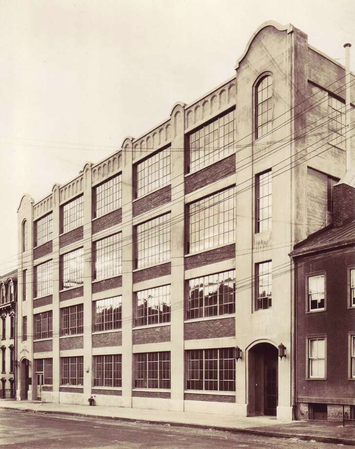 Times Union Sheridan Avenue building circa 1950. Albany Institute of History and Art.