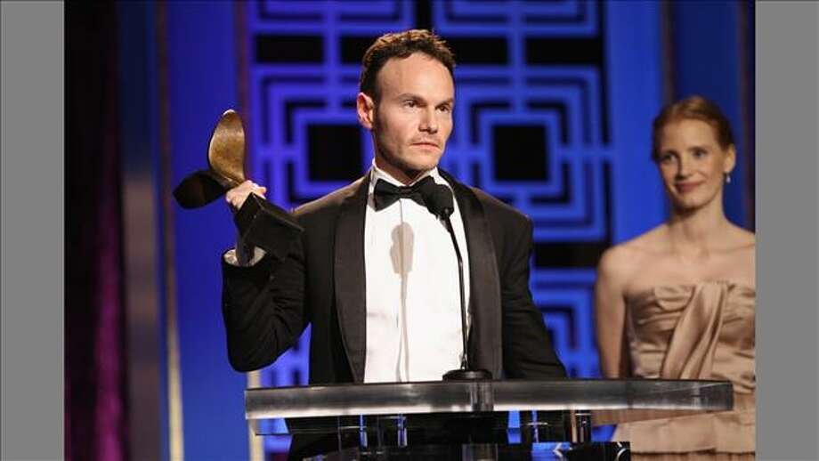 Chris Terrio takes home the best adapted screenplay award for 'Argo' at the Writers Guild Awards