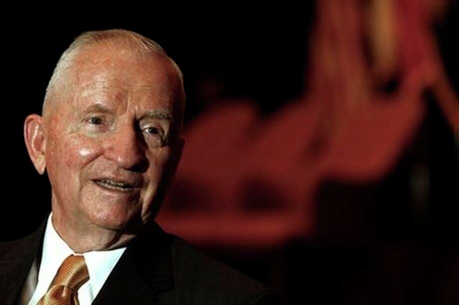 Texas billionaire and two-time presidential candidate Ross Perot was the butt of 288 jokes by Jay Leno. Photo: AP