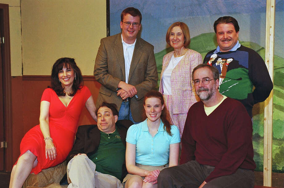 """The Fox on the Fairway"" cast includes, from left seated, Deborah Burke, Kevin McDonough and Sarah Smegal and director Tim Cronin. Standing, Morgan Flagg, Marcia Vinci and Tom Petrone. Photo: Contributed"