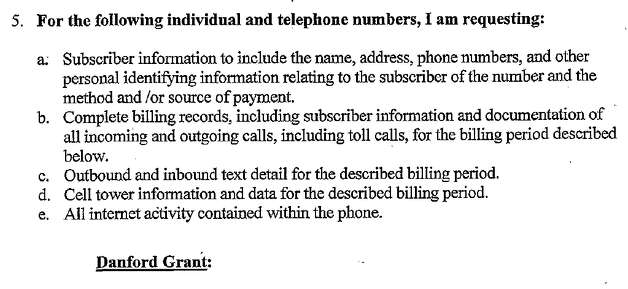 Phone records for rape suspect Danford Grant are among several items police requested through additional search warrants earlier this month. Grant has pleaded not guilty to rape, attempted rape and burglary. Photo: KCSC