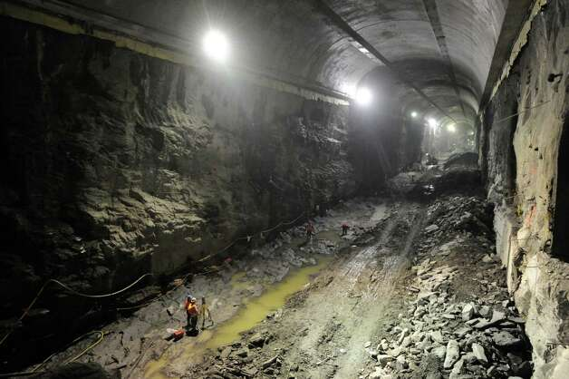 Metropolitan Transportation Authority press tour of the East Side Access Project, New York City, Tuesday, Jan. 29, 2013. The project will connect the Long Island Rail Road's (LIRR) Main and Port Washington lines in Queens to a new LIRR terminal beneath Grand Central Terminal in Manhattan. Photo: Bob Luckey / Greenwich Time