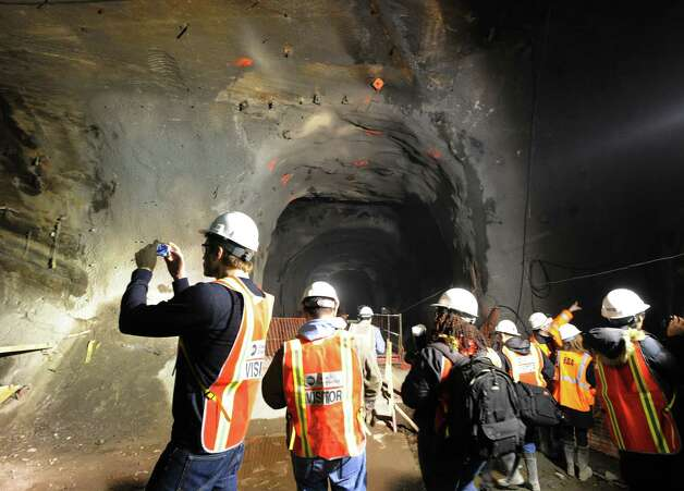 Metropolitan Transportation Authority press tour of the East Side Access Project, New York City, Tuesday, Jan. 29, 2013. The East Side Access project will connect the Long Island Rail Road's (LIRR) Main and Port Washington lines in Queens to a new LIRR terminal beneath Grand Central Terminal in Manhattan. Photo: Bob Luckey / Greenwich Time