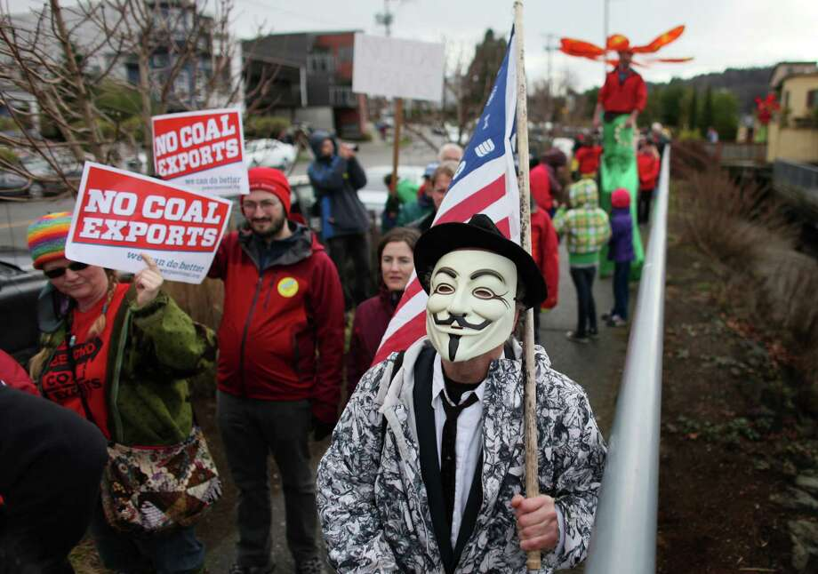 People march during a protest against proposed coal trains. Photo: JOSHUA TRUJILLO / SEATTLEPI.COM