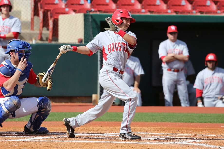 Vidales, a freshman from La Porte, hit .500 in the  Cougars'  season-opening series against Northeastern. Photo: Houston Athletics
