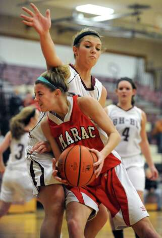 Tamarac's Jenna Erickson drives to the hoop during a basketball game against Burnt Hills on Wednesday Dec. 26, 2012 in Burnt Hills, N.Y. (Lori Van Buren / Times Union) Photo: Lori Van Buren / 00020574A