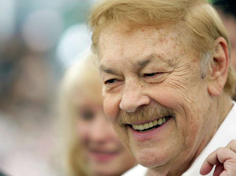 FILE - In this May 8, 2008 file photo, Los Angeles Lakers owner Jerry Buss smiles at the Playmate of the Year luncheon at the Playboy Mansion in Los Angeles. Buss, the Lakers' playboy owner who shepherded the NBA franchise to 10 championships, has died. He was 79. Bob Steiner, an assistant to Buss, confirmed Monday, Feb. 18, 2013  that Buss had died in Los Angeles. Further details were not available. (AP Photo/Matt Sayles, File) Photo: Matt Sayles