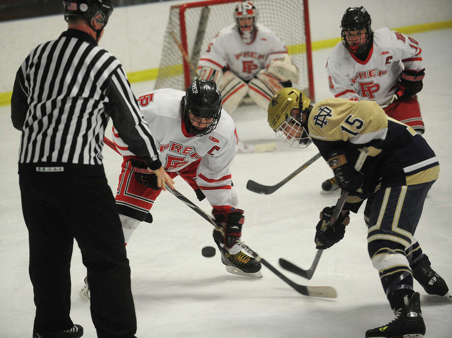 Fairfield Prep and Notre Dame-Fairfield will be league rivals when the SCC-SWC hockey leagues combine for 2013-14. Photo: Brian A. Pounds / Connecticut Post