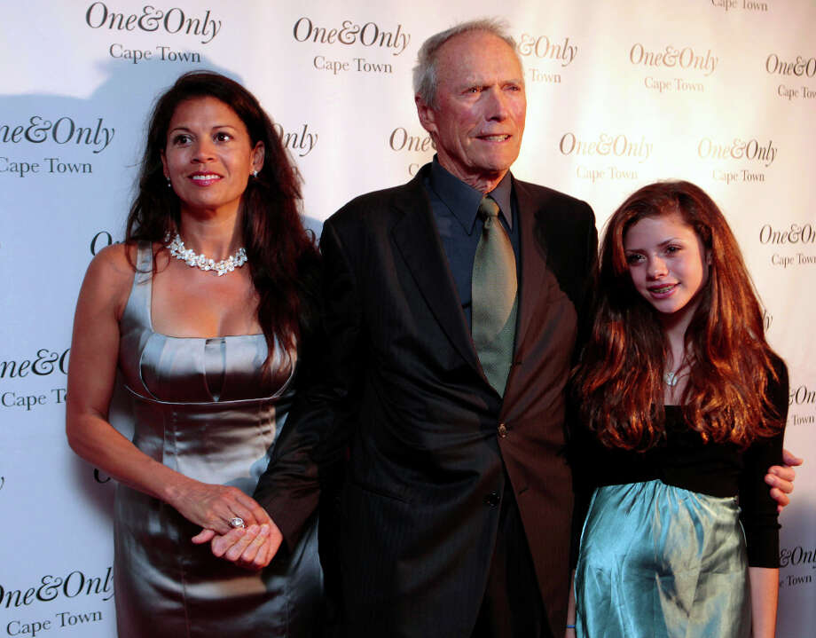Clint Eastwood:The Hollywood legend became a dad for the seventh time at age 66 when his second wife, TV anchor Dina Ruiz, gave birth to their daughter, Morgan, in 1996. Photo: NARDUS ENGELBRECHT, ASSOCIATED PRESS / AP2009