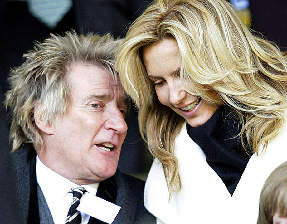Rod Stewart: The singer became a dad for the eighth time at the age of 66 when his third wife, Penny Lancaster, then 39, gave birth to their son, Aiden, in 2010.