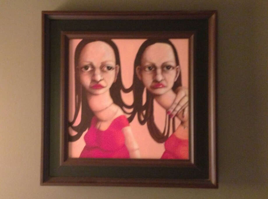 Unsettling art in Room 322 at Hotel Zaza. Photo: Imgur.com