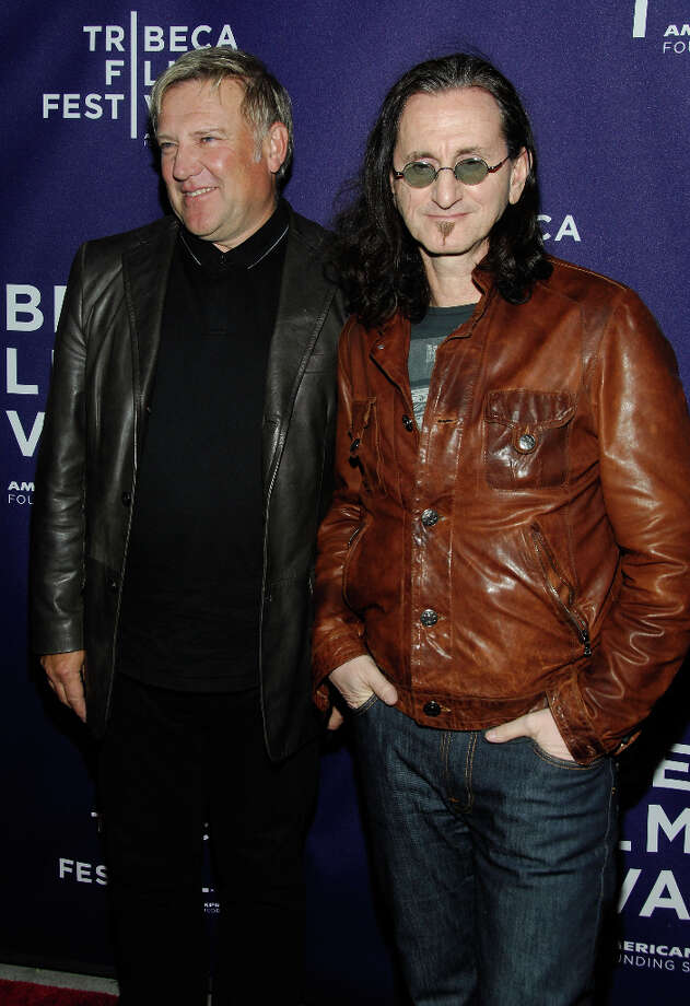 NEW YORK - APRIL 24:  Musicians Alex Lifeson and Geddy Lee of the band Rush attend the premiere of RUSH: Beyond The Lighted Stage during the 2010 Tribeca Film Festival at the School of Visual Arts Theater on April 24, 2010 in New York City. Photo: Joe Corrigan, Getty Images For Tribeca Film Fe / 2010 Getty Images