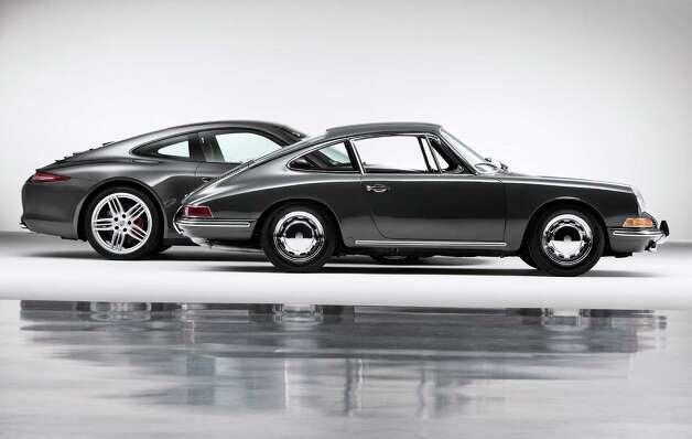 Porsche is celebrating 50 years of the 911, one of the most successful sports cars in history. Here a 1963 911 is shown next to a 2013 911. Photo: Porsche