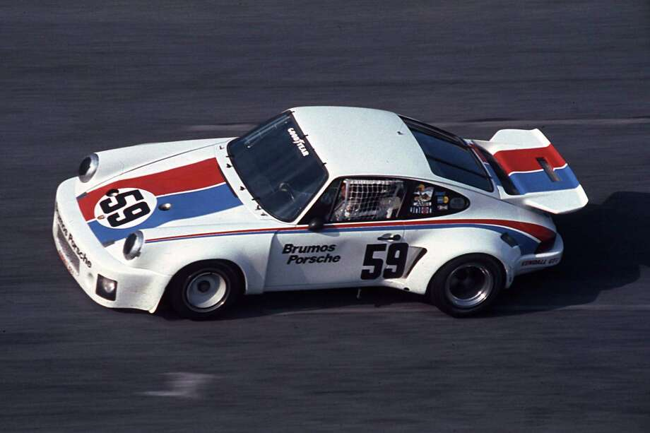 Peter Gregg at the wheel of his Brumos Porsche Carerra 911 RSR that he co-drove with Hurley Haywood to victory in the 24 Hours of Daytona at Daytona International Speedway in 1975. Photo: RacingOne, Getty Images / 2011 RacingOne