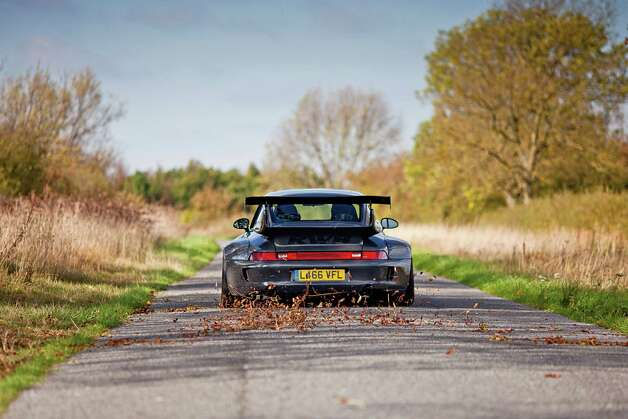 A rear-view of a Rauh-Welt Begriff modified Porsche 911 car, built by Vogue Auto Design in the UK. Photographed during a shoot for Fast Car Magazine, October 14, 2011. Photo: Fast Car Magazine, Getty Images / 2011 Future Publishing