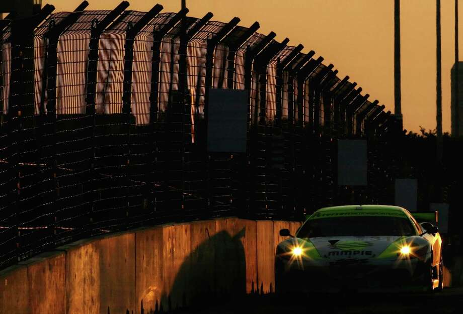 The #31 Petersen Motorsports Porsche 911 GT3 RSR  driven by Tim Bergmeister competes in the American Le Mans series Lone Star Grand Prix at Reliant Park on April 21, 2007 in Houston, Texas. Photo: Christian Petersen, Getty Images / 2007 Getty Images