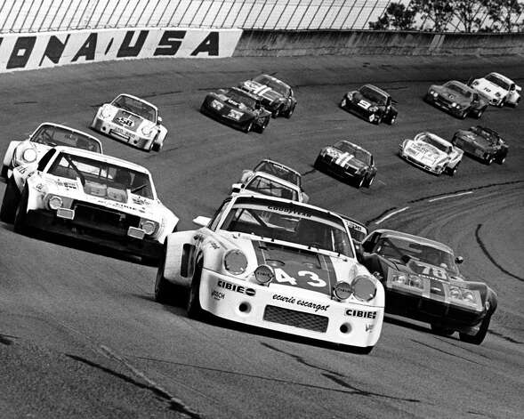 From 12th on the grid, the No. 43 Porsche 911 Carrera RSR of Dave Helmick, Hurley Haywood and John Graves gets set for the start of the 24 Hour Pepsi Challenge at Daytona International Speedway in 1977. Photo: RacingOne, Getty Images / 2012 RacingOne