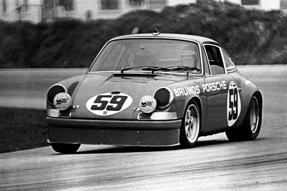\Peter Gregg of Jacksonville, FL, at the wheel of a Brumos Porsche 911 during the Starlight 3-Hour IMSA GT race at Daytona International Speedway in 1972. Photo: RacingOne, Getty Images / 2012 RacingOne