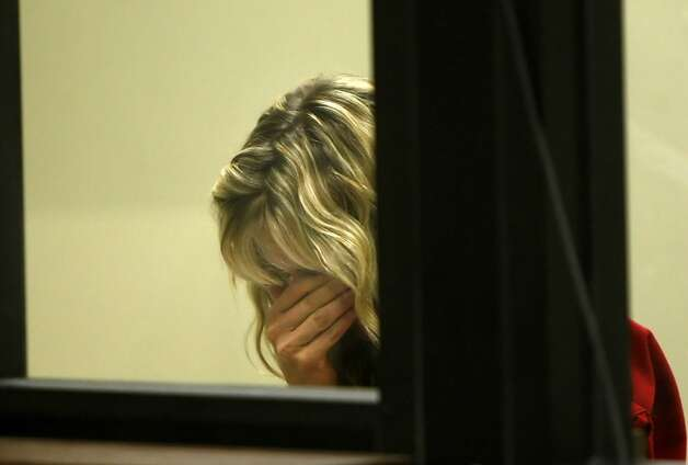 Christine Shreeve Hubbs cries as she waits to be arraigned for the alleged sexual assault of two boys, Monday August 9, 2010, at the Gale-Schenone Hall of Justice in Pleasanton, Calif. Photo: Atkins, Lacy, THE CHRONICLE