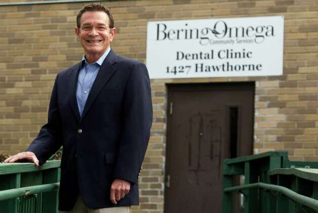 Joe Nelson poses for a portrait at the Bering Omega dental clinic Monday, Jan. 28, 2013, in Houston.  Nelson has been helping the clinic raise money for a new building that they will own.  ( J. Patric Schneider / For the Chronicle ) Photo: J. Patric Schneider, Freelance / © 2013 Houston Chronicle