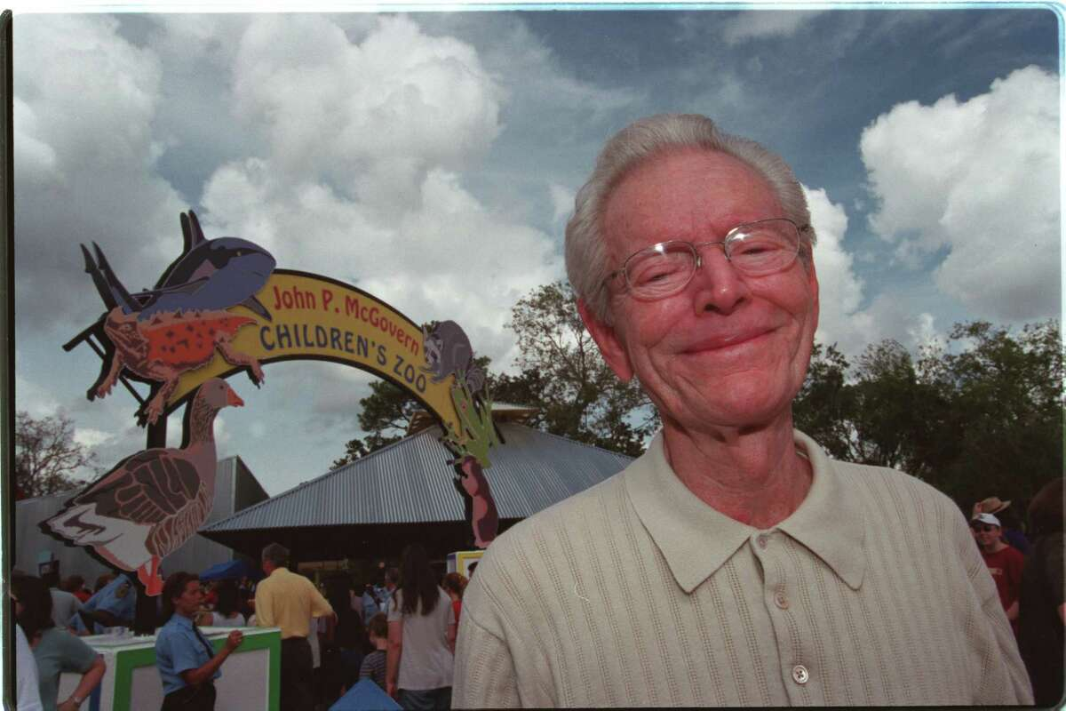 John P. McGovern, who died in 2007, focused on charities that helped families, including the Children's Zoo at the Houston Zoo.