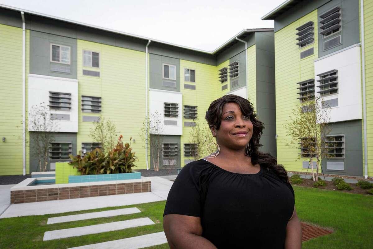 Resident Robelean Harrell is getting back on her feet thanks to New Hope Housing.