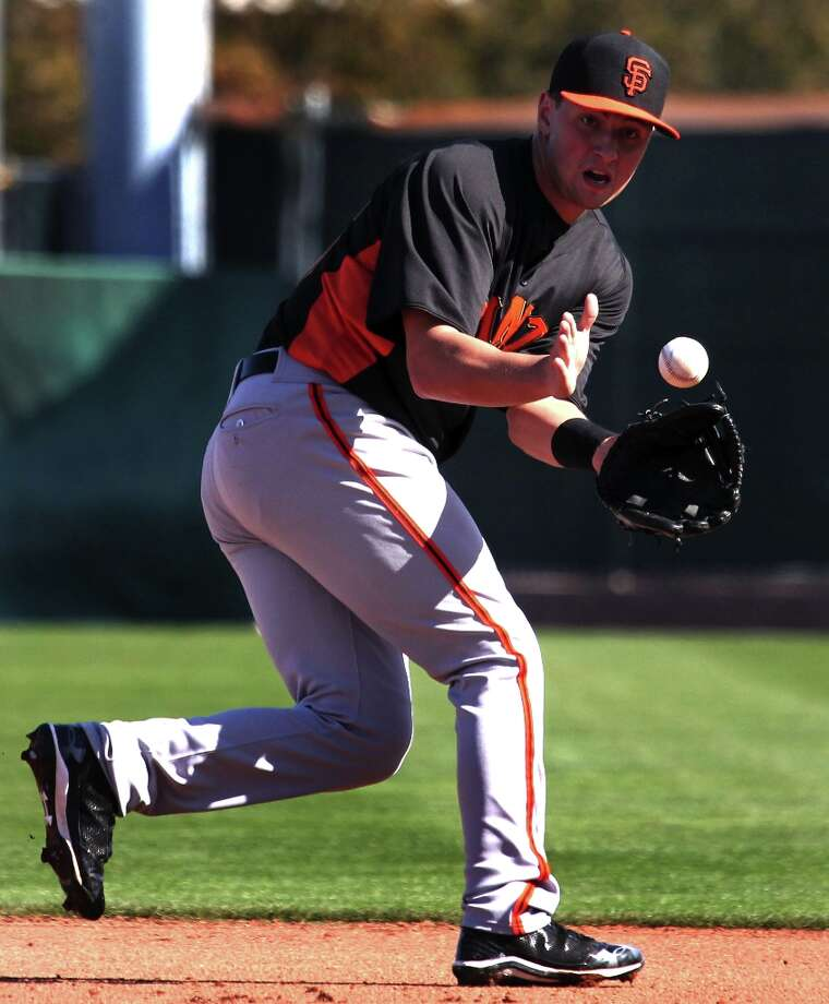 San Francisco Giants infielder Joe Panik fields a line drive during spring training Monday, Feb. 18, 2013, in Scottsdale, Ariz. Photo: Lance Iversen, The Chronicle / ONLINE_YES