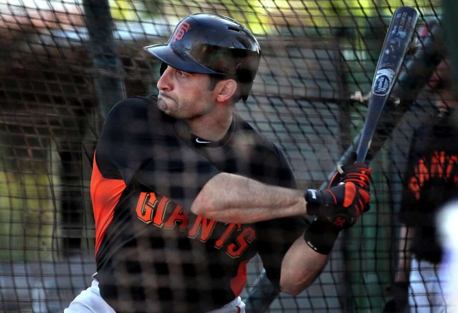 San Francisco Giants catcher Tyler LaTorre takes batting practice at spring training Monday, Feb. 18, 2013, in Scottsdale, Ariz. Photo: Lance Iversen, The Chronicle / ONLINE_YES