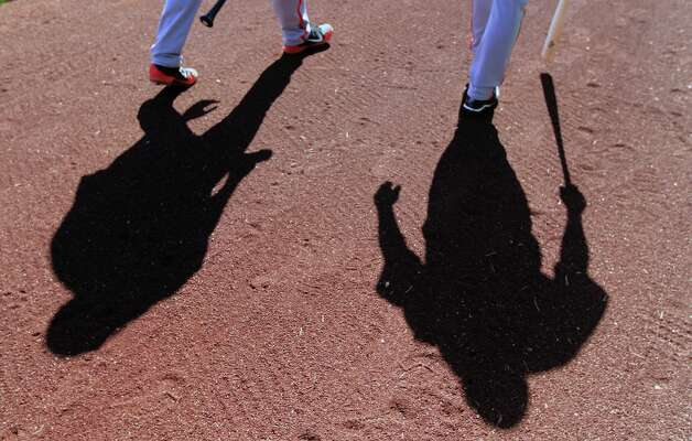 San Francisco Giants minor league players walk onto the Scottsdale Stadium field for batting practice at spring training Monday, Feb. 18, 2013, in Scottsdale, Ariz. Photo: Lance Iversen, The Chronicle / ONLINE_YES